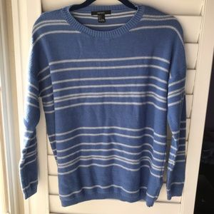 Forever 21 blue and white knit sweater